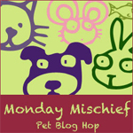monday mischief bloghop logo button