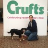 Bella and my human at Crufts