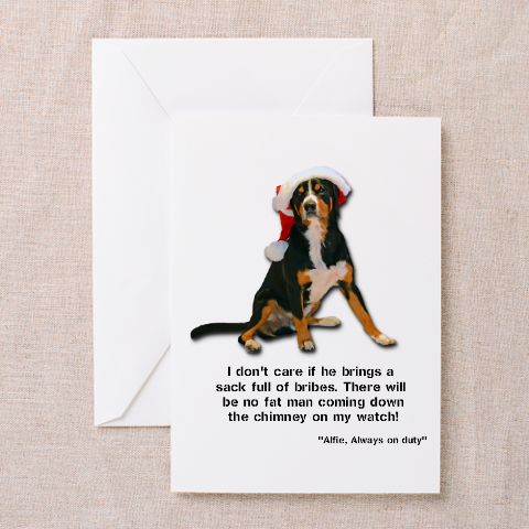 Entlebucher Mountain Dog Christmas Card - Personalise with your own dog's name