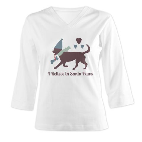 i_believe_in_santa_paws_womens_long_sleeve_shirt